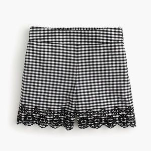 NWT J. Crew Women's Gingham Pull On Shorts